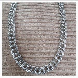 Gorgeous Silver Chunky Trifari Necklace*VINTAGE*